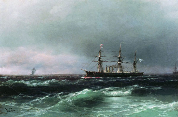 Корабль в море. (Айвазовский И.К.)