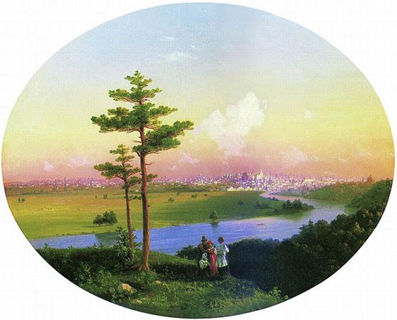Вид на Москву с Воробьевых гор. (Айвазовский И.К.)