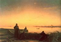 Мхитаристы на острове св. Лазаря. Венеция (И.К. Айвазовский)