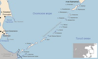 Карта Курильских островов