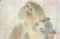 Обезьяна и кошки (И Юаньцзи, 11 век)