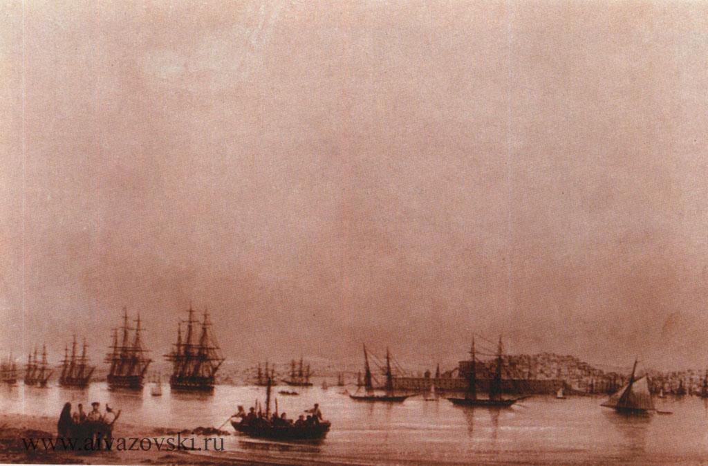 «Севастополь. Вид города с Северной стороны»,1845
