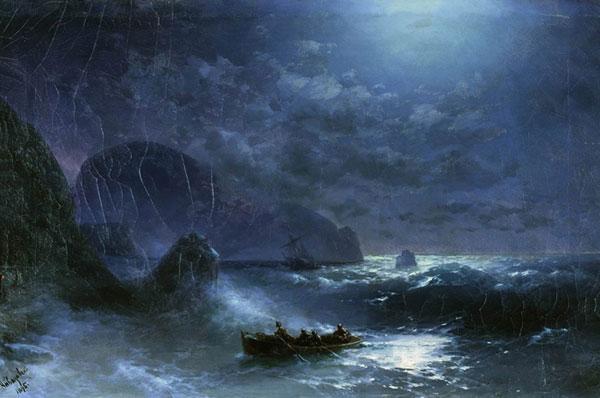 Буря на море ночью. (Айвазовский И.К.)