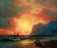 Заход солнца на море. 1866