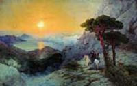 А.С.Пушкин на вершине Ай-Петри при восходе солнца. 1899