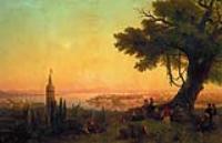 Вид Константинополя при вечернем освещении. 1846