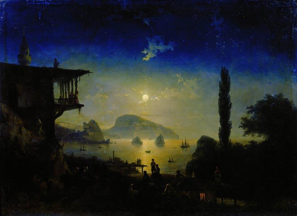 Лунная ночь в Крыму. Гурзуф. 1839