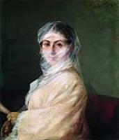 Портрет жены художника Анны Бурназян.1882