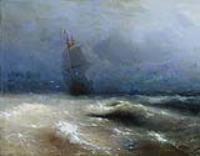 Буря у берегов Ниццы. 1885