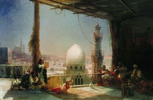 Сцены из каирской жизни. (Айвазовский И.К.)