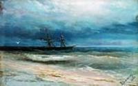 Море с кораблем. 1884