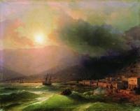 Приморский город. Вид Ялты. 1866