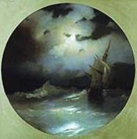 Море в лунную ночь. 1858