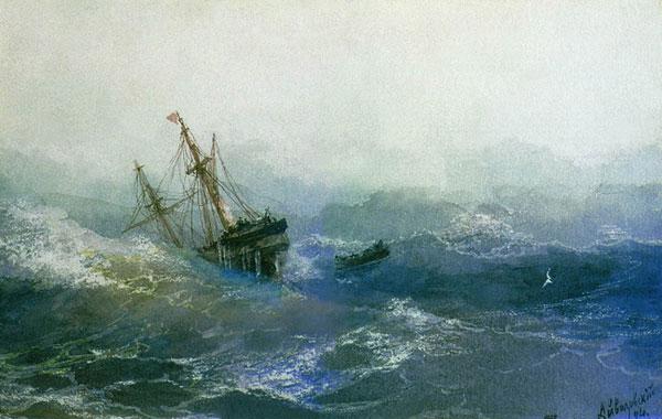 Кораблекрушение. (Айвазовский И.К.)