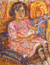 Девочка с куклой (А.Осмеркин)