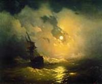 Буря на море ночью. 1849