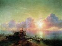 Купание овец. 1878