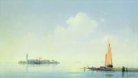 Венецианская лагуна. Вид на остров Сан-Джоржо (И.К. Айвазовский)