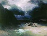 Парусник в бурю. 1886