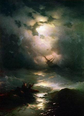 Буря на Северном море. (Айвазовский И.К.)