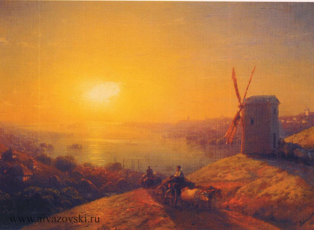 мельница на берегу реки