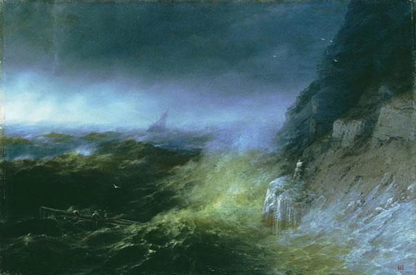 Буря в Черном море. (Айвазовский И.К.)