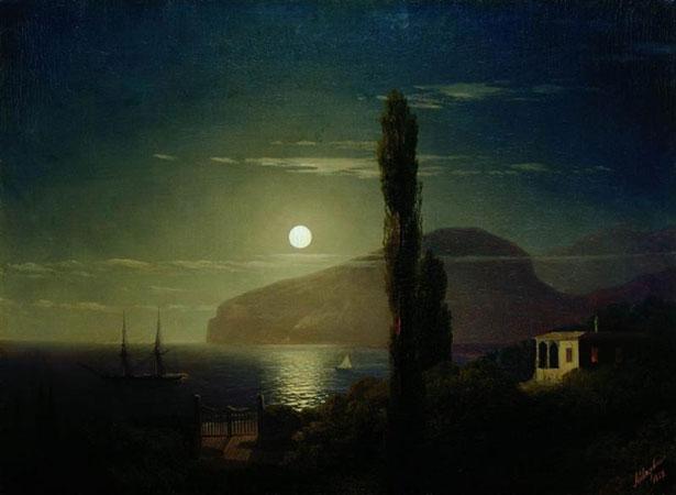 Лунная ночь в Крыму. (Айвазовский И.К.)
