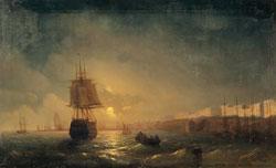 Вид Одессы в лунную ночь (И.К. Айвазовский)