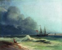 Море перед бурей. 1856