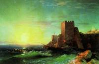 Башни на скале у Босфора. 1859