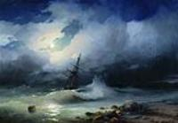 Бурное море ночью. 1853