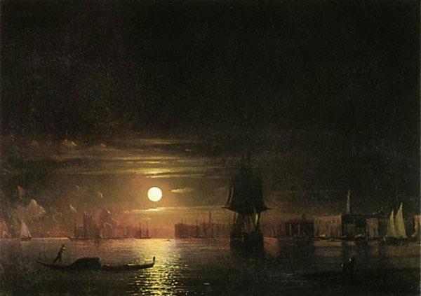 Ночь в Венеции. (Айвазовский И.К.)