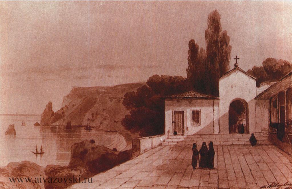 «Вид Георгиевского монастыря», 1858
