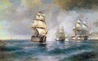 "Бриг ""Меркурий"", атакованный двумя турецкими кораблями. 1892"