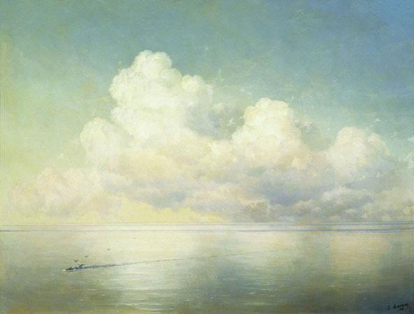 Облака над морем. Штиль. (Айвазовский И.К.)