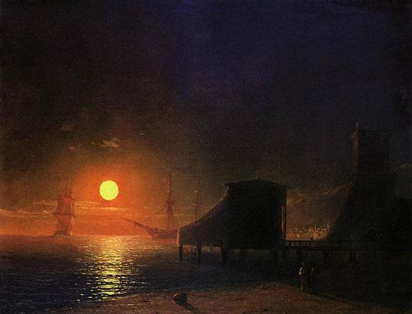 Феодосия. Лунная ночь. (Айвазовский И.К.)