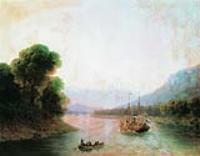 Река Риони. Грузия. 1870