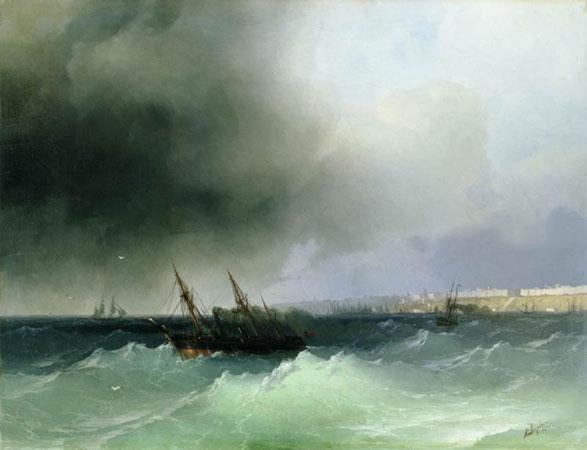 Вид Одессы с моря. (Айвазовский И.К.)