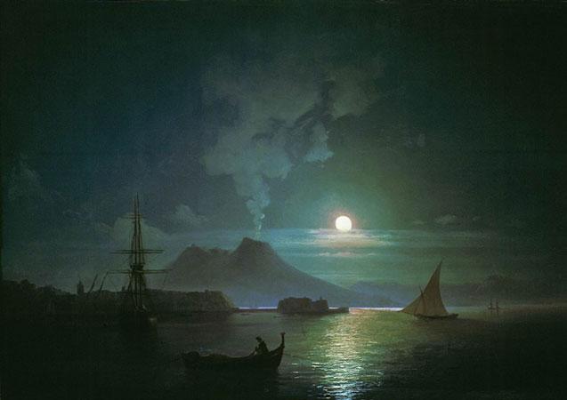 Неаполь в лунную ночь. Венеция. (Айвазовский И.К.)
