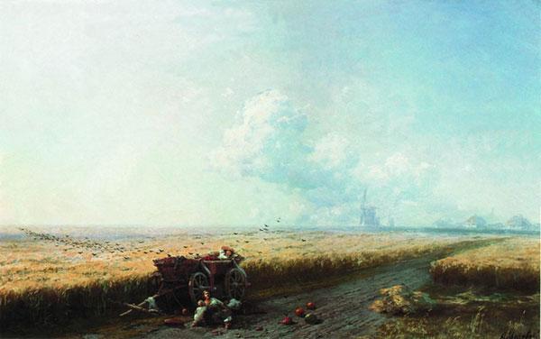 Во время жатвы на Украине. (Айвазовский И.К.)