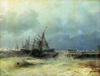 Спасающиеся от бури. 1872