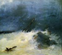 Буря на море. 1893.
