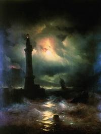 Неаполитанский маяк (И.К. Айвазовский)