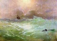Корабль в бурю. 1896
