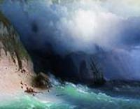 Кораблекрушение у скал. 1870-е