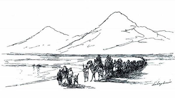 Сошествие Ноя с Арарата. (Айвазовский И.К.)