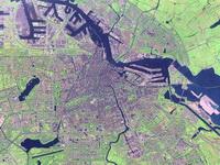 Вид на Амстердам со спутника