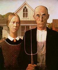 Американская готика (Г. Вуд, 1930 г.)