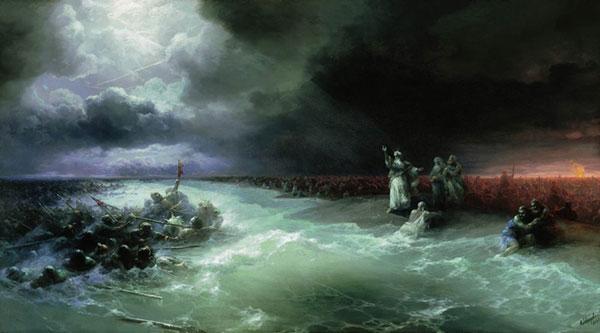 Переход евреев через Красное море. (Айвазовский И.К.)