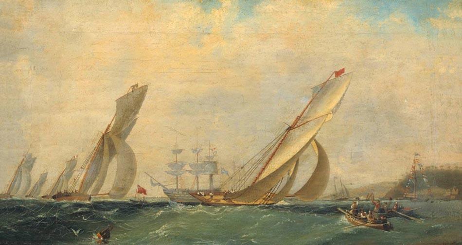 Фрегат на море. 1838